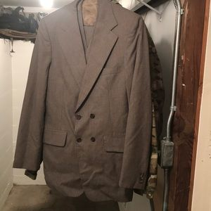 Other - Vintage 3 piece brown suit. Light pin stripes.